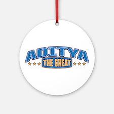 The Great Aditya Ornament (Round)