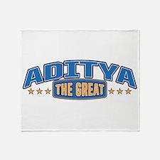 The Great Aditya Throw Blanket