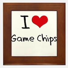 I Love Game Chips Framed Tile