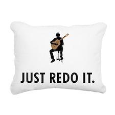 Classical Guitar Rectangular Canvas Pillow
