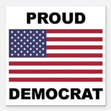 "Democrat Pride (Flag) Square Car Magnet 3"" x 3"""