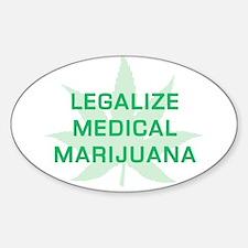 Legalize Medical Marijuana Oval Decal