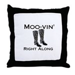 Moovin' Throw Pillow