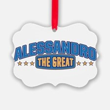 The Great Alessandro Ornament