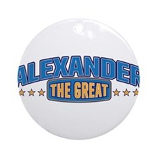 The Great Alexander Ornament (Round)