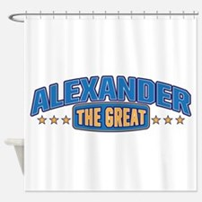 The Great Alexander Shower Curtain
