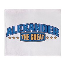 The Great Alexander Throw Blanket