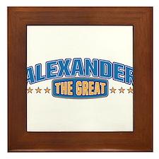 The Great Alexander Framed Tile