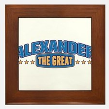 The Great Alexander Framed Tile