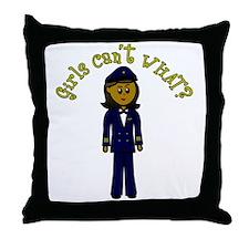 Dark Airline Pilot Throw Pillow