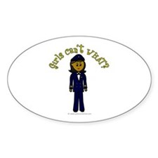 Dark Airline Pilot Oval Decal