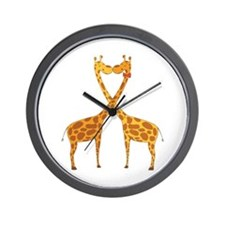 Love Giraffes Wall Clock