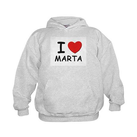 I love Marta Kids Hoodie