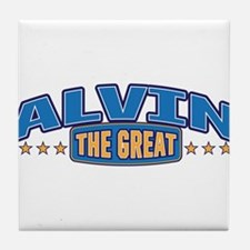 The Great Alvin Tile Coaster