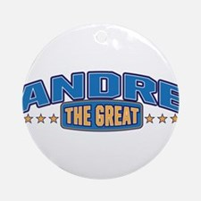 The Great Andre Ornament (Round)