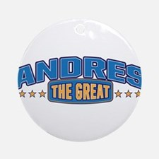 The Great Andres Ornament (Round)