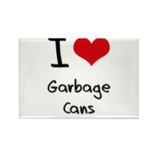 I Love Garbage Cans Rectangle Magnet