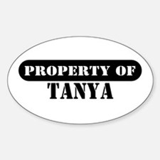 Property of Tanya Oval Decal