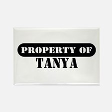Property of Tanya Rectangle Magnet