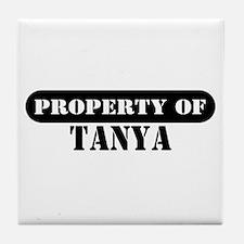 Property of Tanya Tile Coaster
