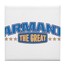 The Great Armani Tile Coaster
