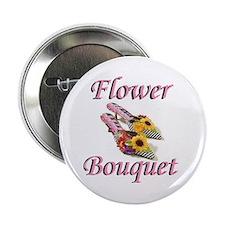 """Flower Bouquet 2.25"""" Button (10 pack)"""