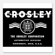 CROSLEY Automobiles, 1939-1942. Square Car Magnet