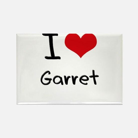 I Love Garret Rectangle Magnet