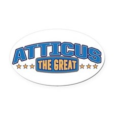 The Great Atticus Oval Car Magnet