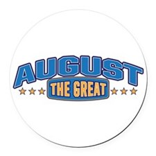 The Great August Round Car Magnet