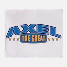 The Great Axel Throw Blanket