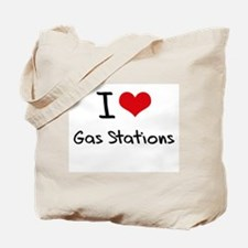 I Love Gas Stations Tote Bag