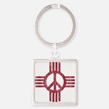 New Mexico Peace Sign Keychains