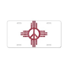 New Mexico Peace Sign Aluminum License Plate