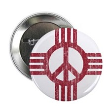 "New Mexico Peace Sign 2.25"" Button"