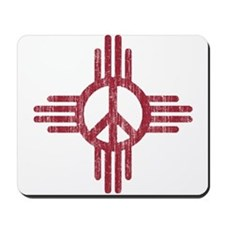 New Mexico Peace Sign Mousepad