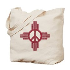 New Mexico Peace Sign Tote Bag