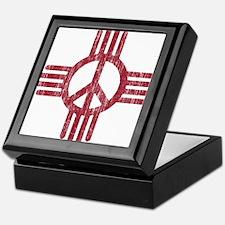 New Mexico Peace Sign Keepsake Box