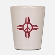 New Mexico Peace Sign Shot Glass