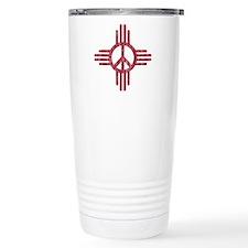 New Mexico Peace Sign Travel Mug