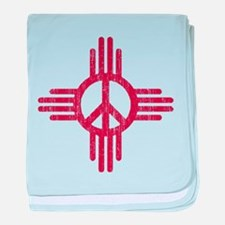 New Mexico Peace Sign baby blanket