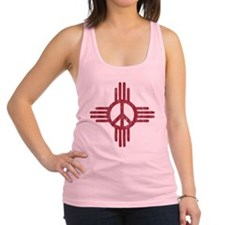 New Mexico Peace Sign Racerback Tank Top