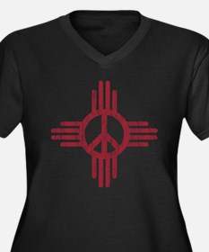 New Mexico Peace Sign Plus Size T-Shirt
