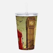 vintage London UK fash Acrylic Double-wall Tumbler