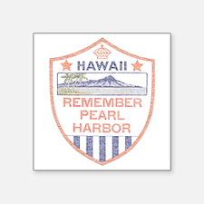 """Remember Pearl Harbor Square Sticker 3"""" x 3"""""""