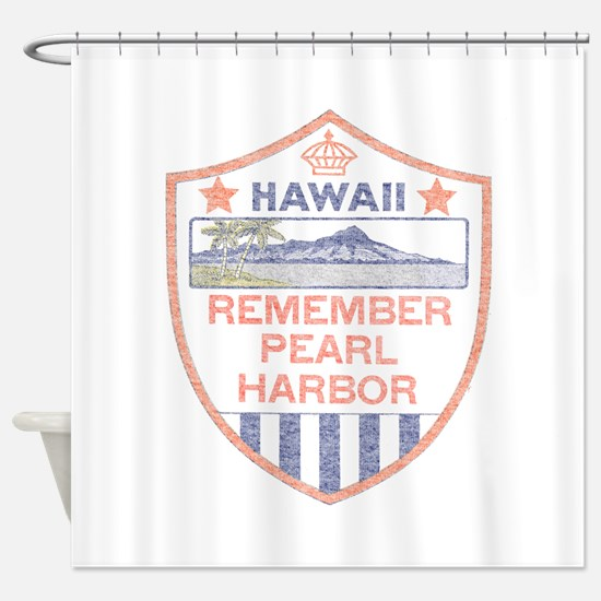 Remember Pearl Harbor Shower Curtain
