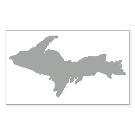Upper Peninsula Rectangle Sticker