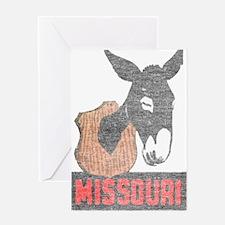 Vintage Missouri Jackass Greeting Card