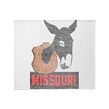 Vintage Missouri Jackass Throw Blanket