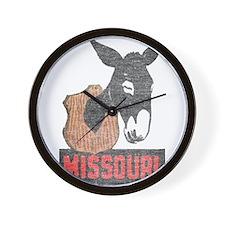 Vintage Missouri Jackass Wall Clock